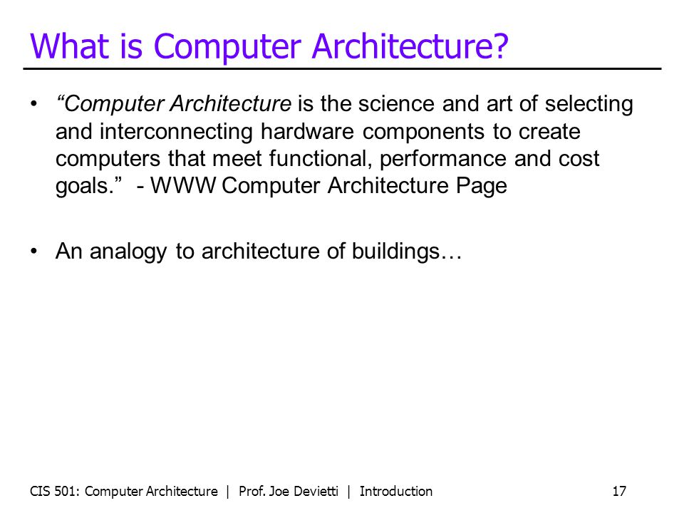 """CIS 501: Computer Architecture 