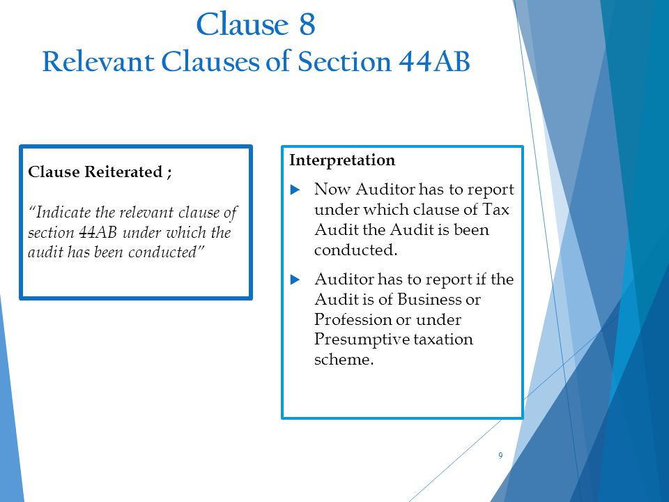 Impact of the Changes  Earlier Auditor had to report only the cash payment for expenses incurred during the year in excess of prescribed limit but now the CBDT has casted additional responsibility on auditor to report the cash payment made during the year in respect of expenses incurred in earlier years exceeding the prescribed limit U/s.