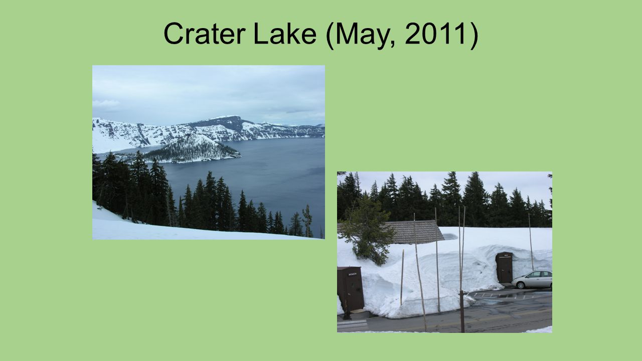 Declining Mid-Elevation Snowfall 7,000 – 8,000 ft Source: Crater Lake National Park 25% Reduction N.