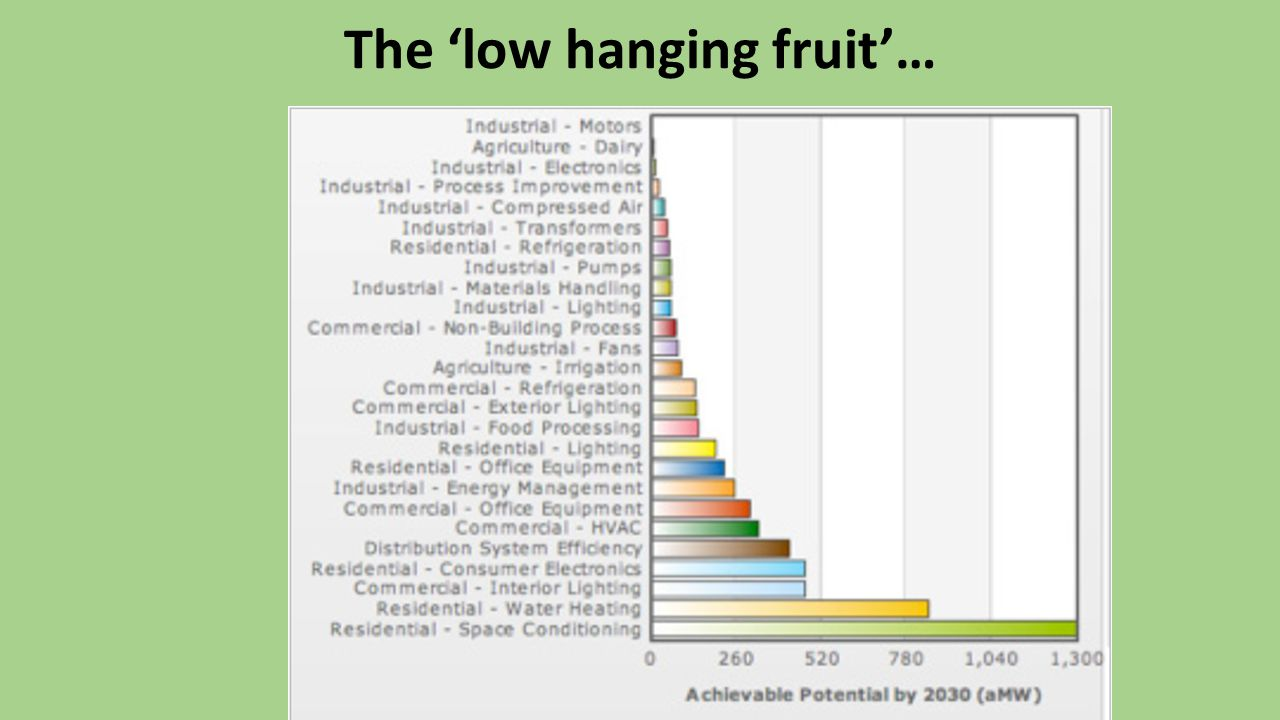 The 'low hanging fruit'…