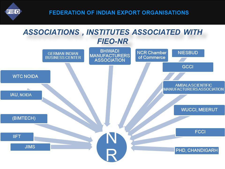 FEDERATION OF INDIAN EXPORT ORGANISATIONS ASSOCIATIONS, INSTITUTES ASSOCIATED WITH FIEO-NR NRNR JIMS IIFT (BIMTECH) IAU, NOIDA WTC NOIDA GERMAN INDIAN