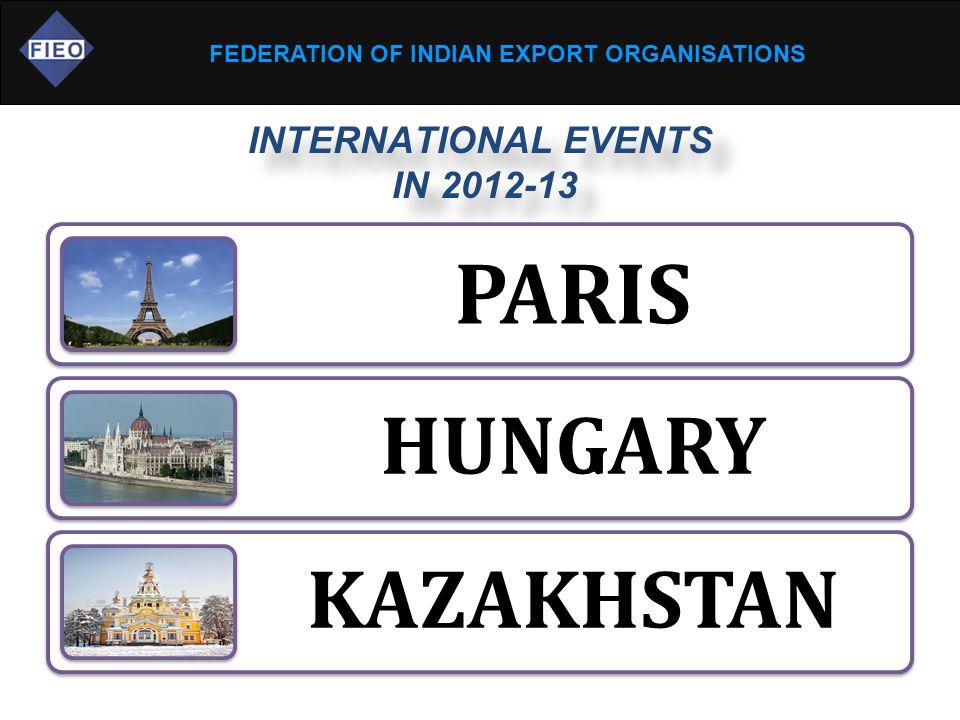 FEDERATION OF INDIAN EXPORT ORGANISATIONS PARIS HUNGARY KAZAKHSTAN