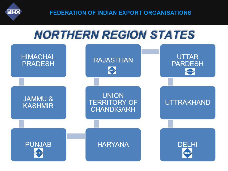 NORTHERN REGION STATES HIMACHAL PRADESH JAMMU & KASHMIR PUNJABHARYANA UNION TERRITORY OF CHANDIGARH RAJASTHAN UTTAR PARDESH UTTRAKHANDDELHI