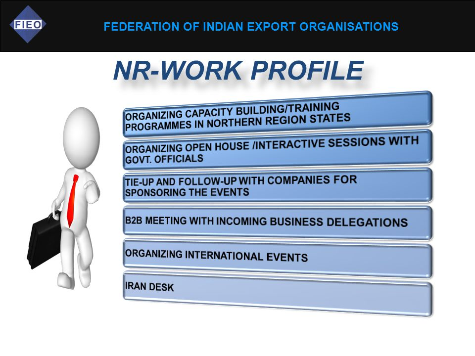 FEDERATION OF INDIAN EXPORT ORGANISATIONS NR-WORK PROFILE
