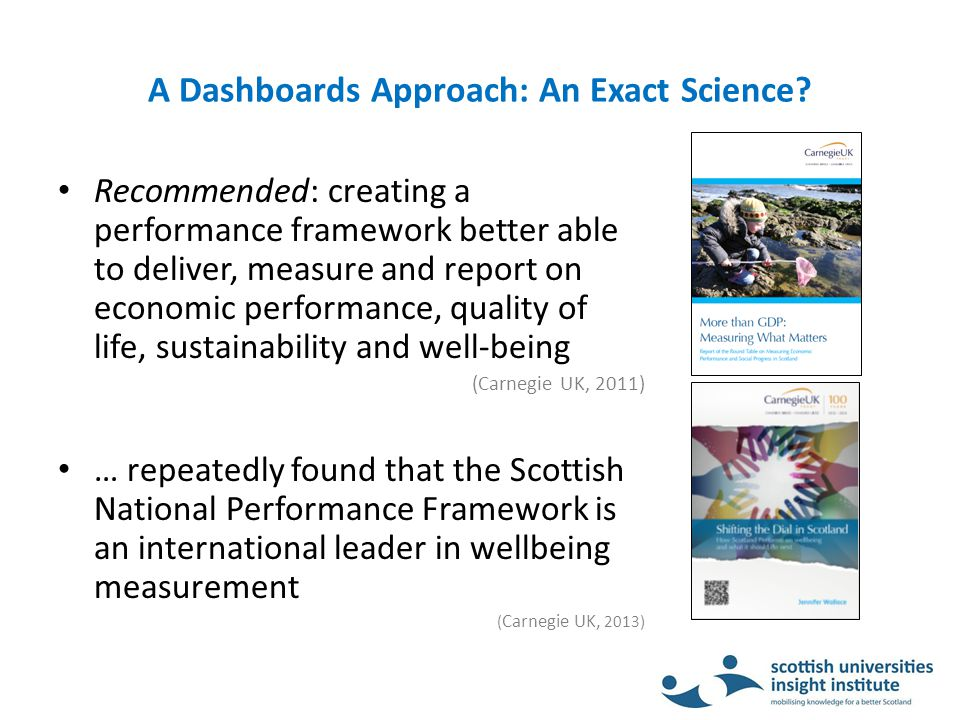 A Dashboards Approach: An Exact Science.