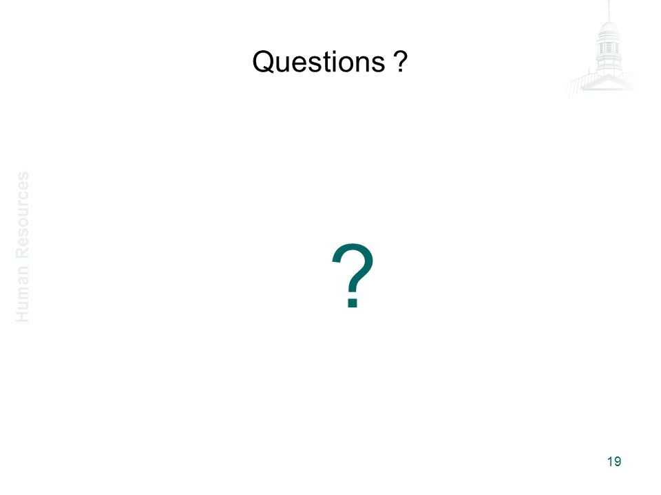 Questions 19 Human Resources