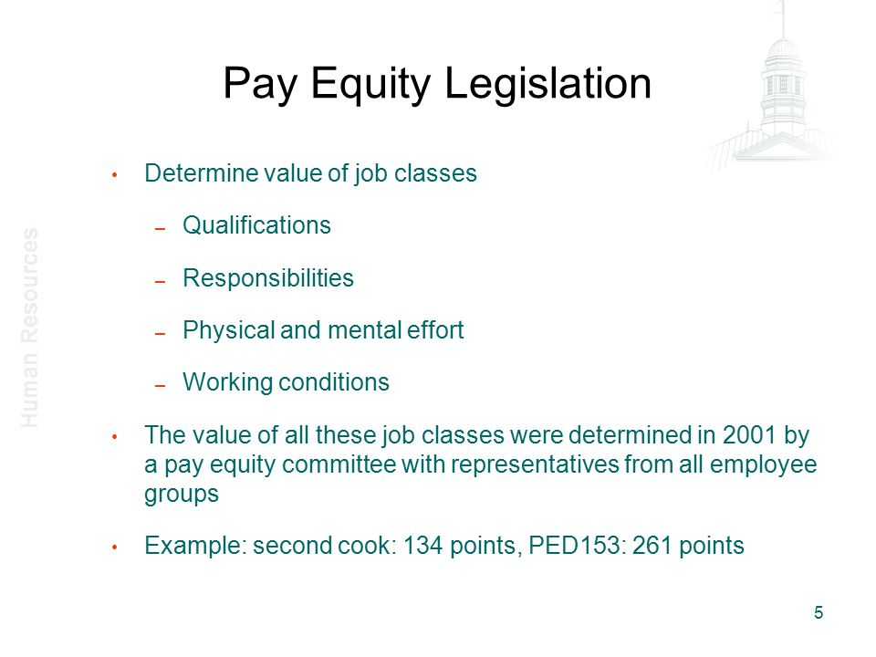 Determine salary rate Salary rate used is the maximum of the salary scale applying to the job class – Not the actual salary paid to an employee nor the average salaries paid to all employees in the job class Salary scales exist for M and MUNACA (CAUTION: there were multiple salary scales in 2001 for single job classes) Fixed rates for SEU job classes No salary scale for all academic job classes – Rank for all job classes, all salary rates paid to all incumbents – Take the salary paid for the employee at the 90e percentile assuming the top 10% are workforce shortage 6 Human Resources
