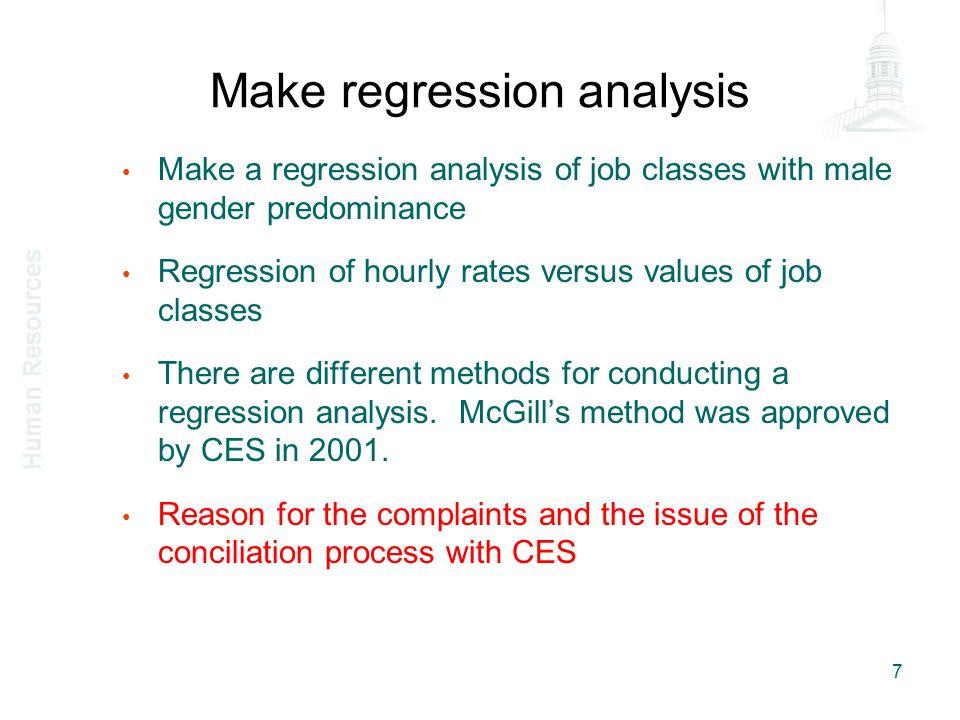 Make regression analysis 2001 regression results 8 Human Resources
