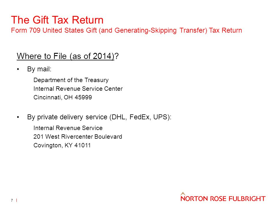 The Gift Tax Return Form 709 United States Gift (and Generating-Skipping Transfer) Tax Return 8 Reporting the gift: Is the donor married.