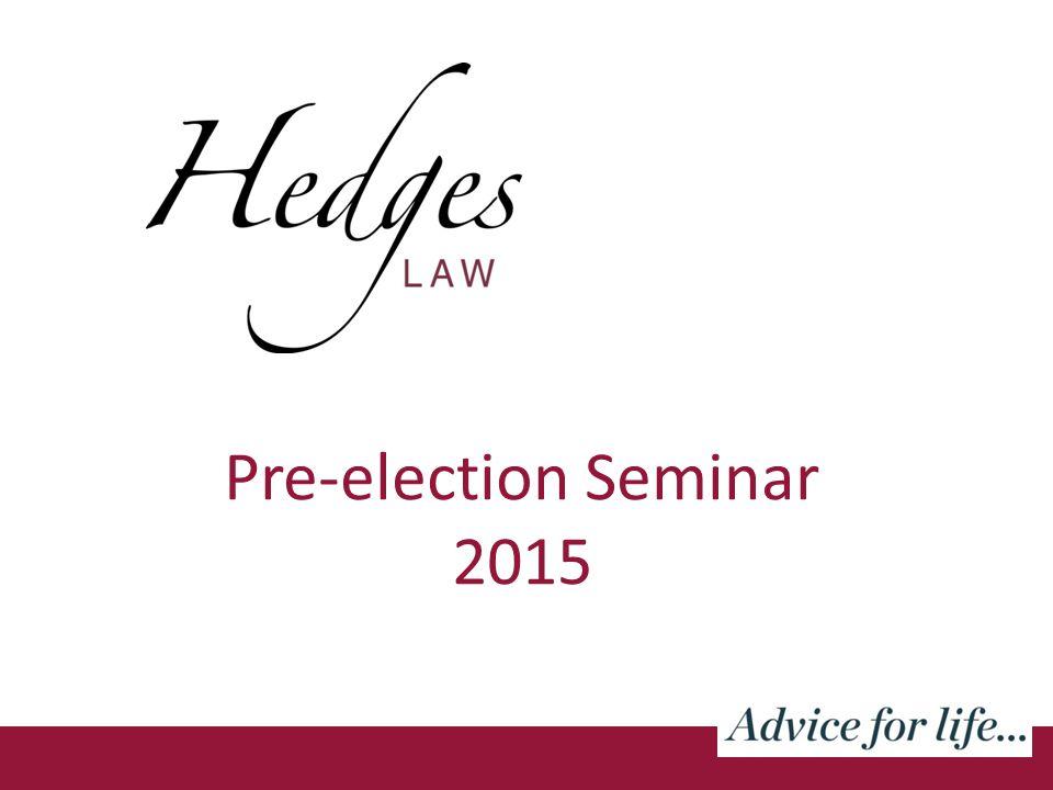 Pre-election Seminar 2015