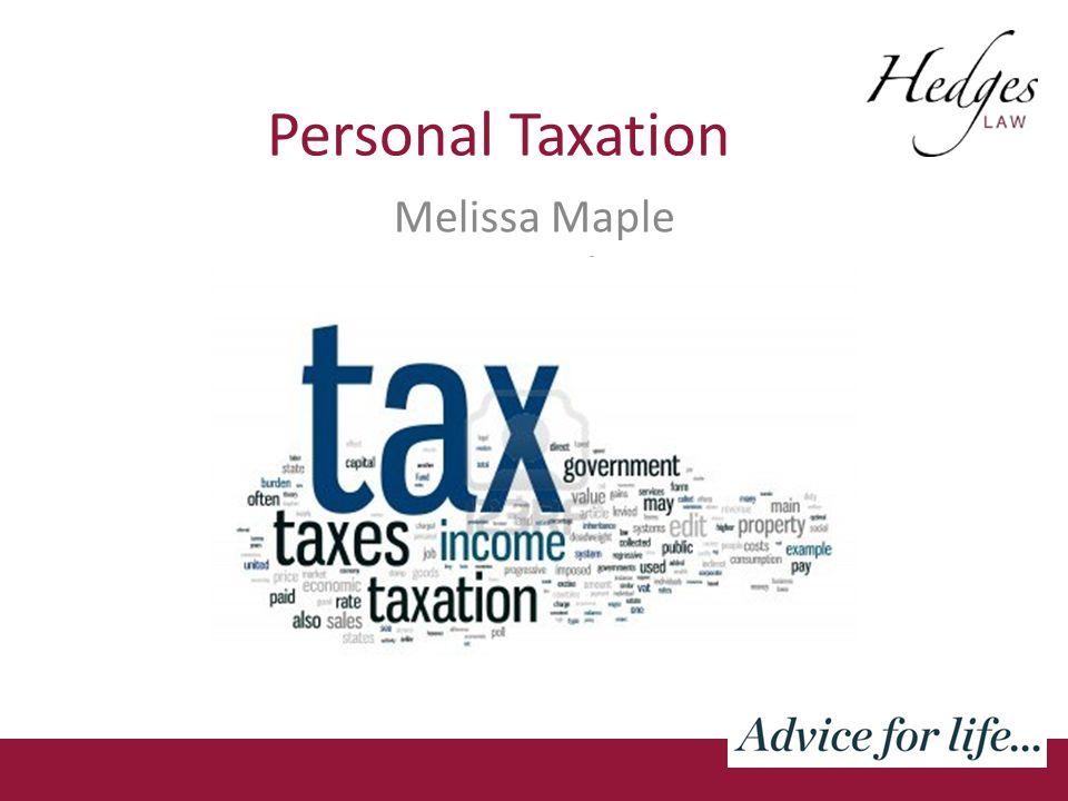Personal Taxation Melissa Maple Hernandez