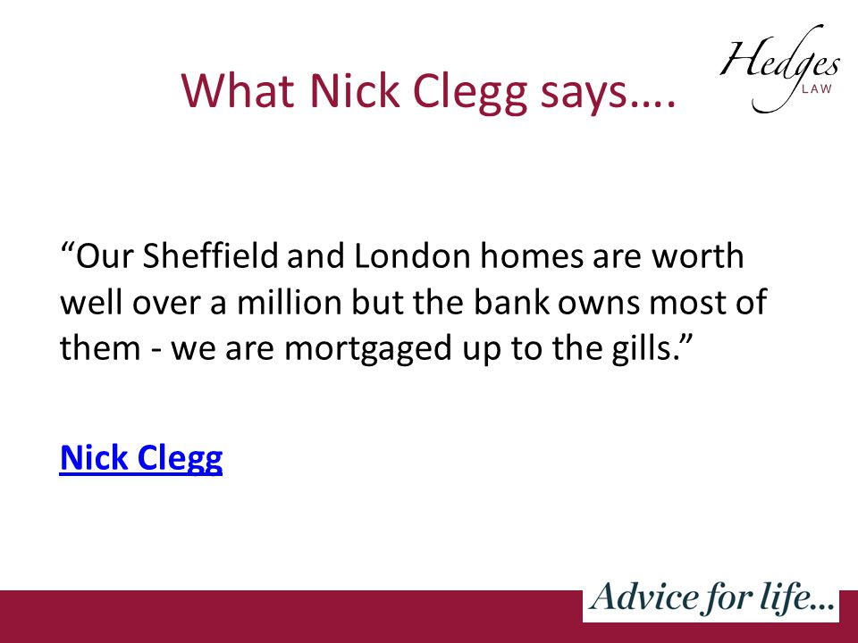 What Nick Clegg says….