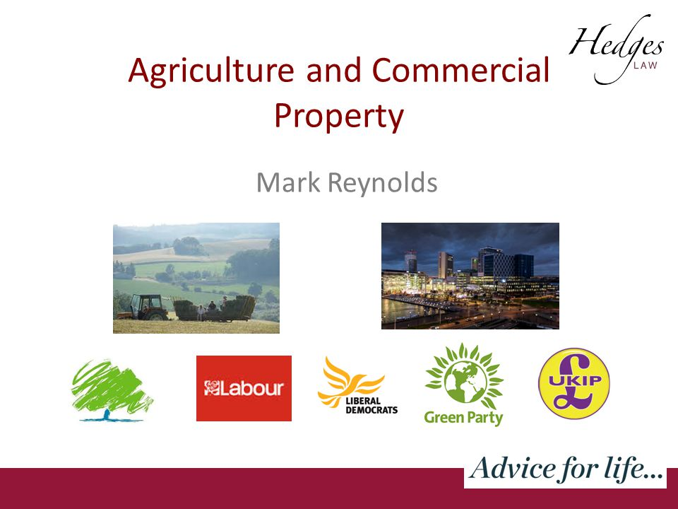 Agriculture and Commercial Property Mark Reynolds