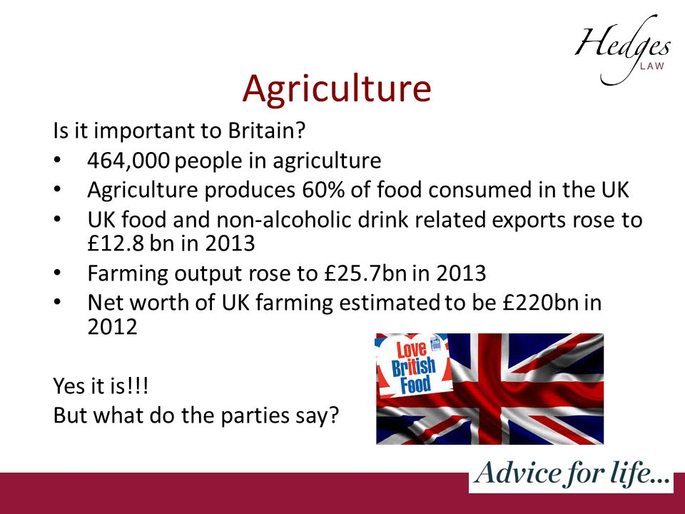 Agriculture Is it important to Britain.