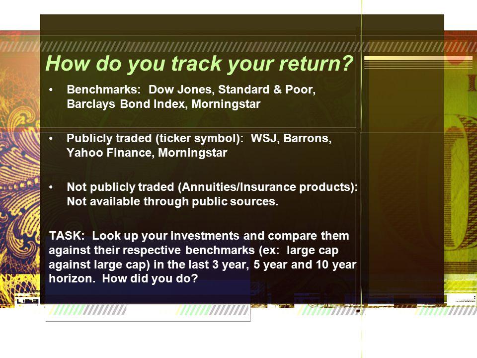 How do you track your return.