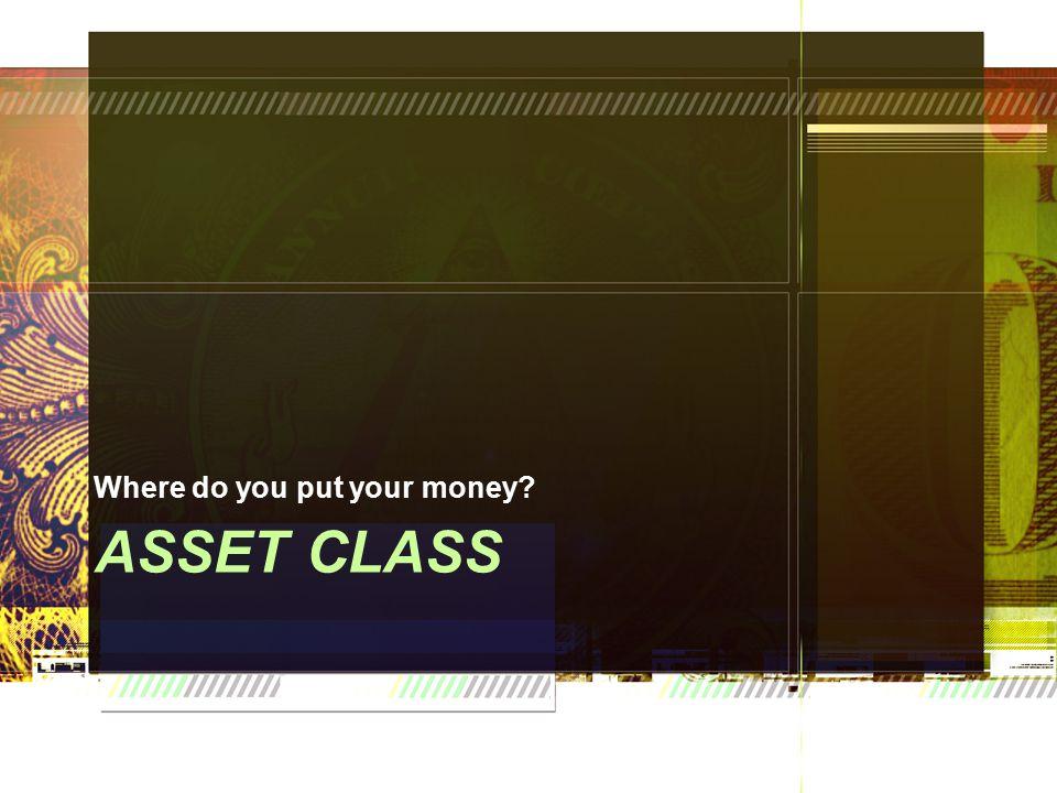ASSET CLASS Where do you put your money?