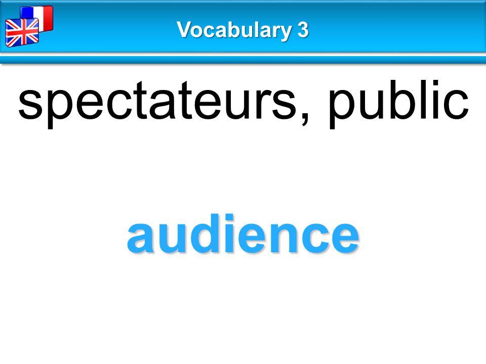 audience spectateurs, public Vocabulary 3