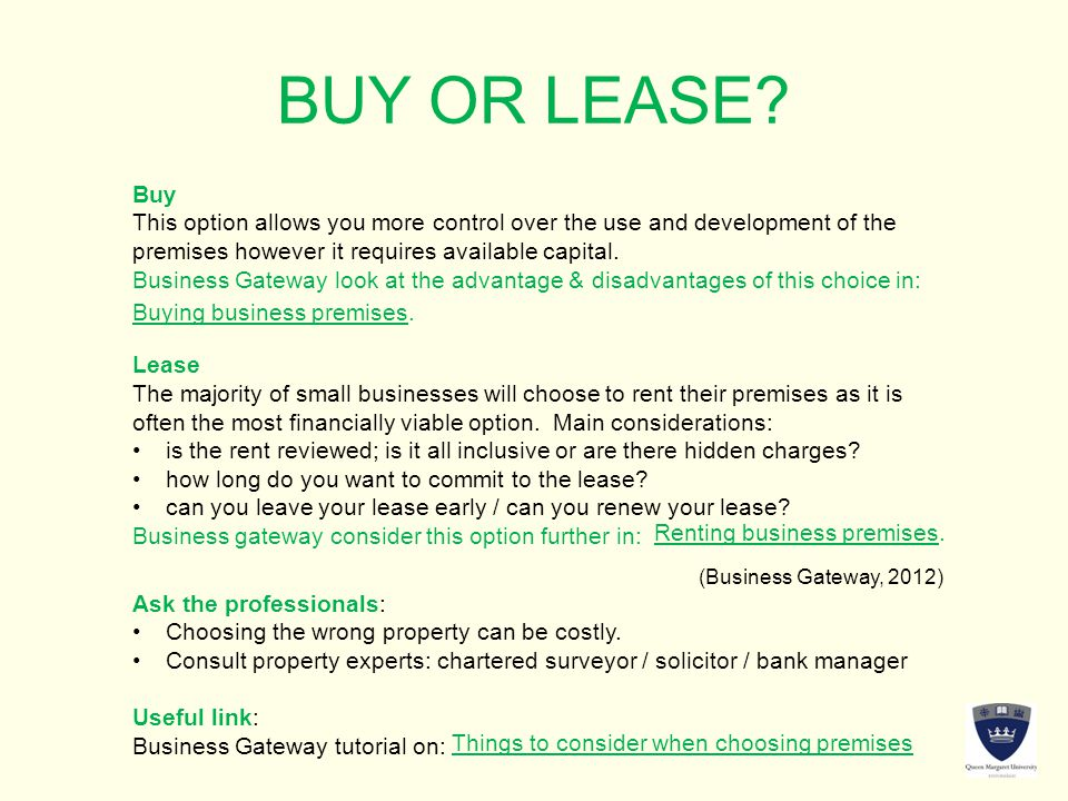 BUY OR LEASE.