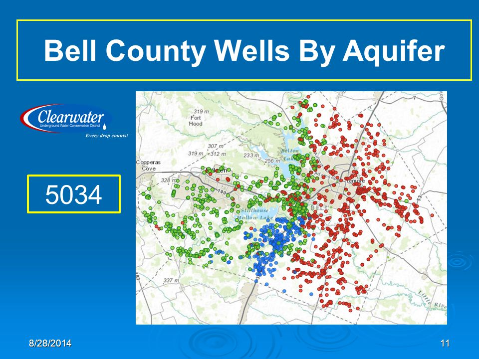 Bell County Wells By Aquifer 5034 118/28/2014
