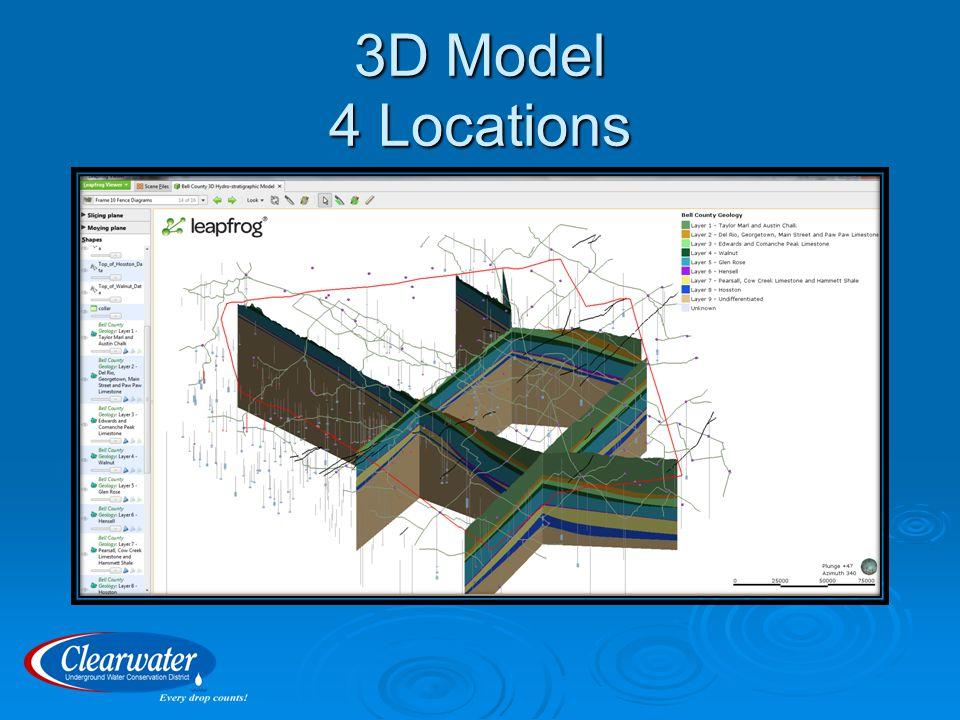 3D Model 4 Locations