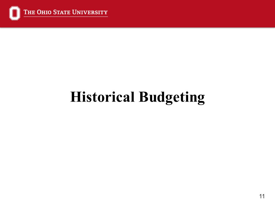 11 Historical Budgeting