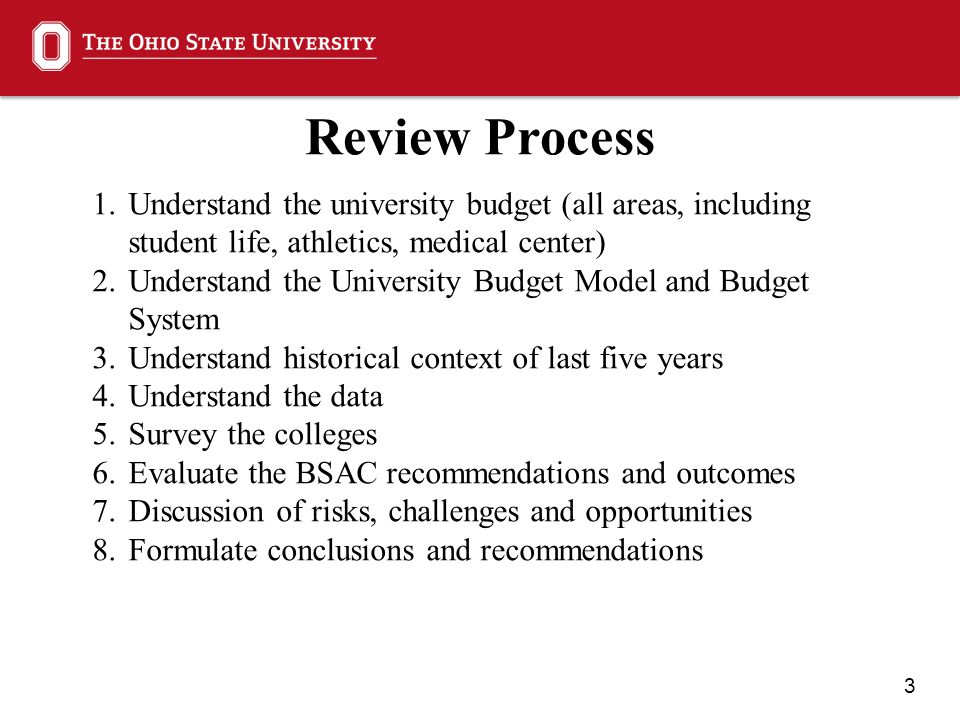 4 Recommendations Overarching Recommendation The guiding principles and design of the university budget model are fundamentally sound.