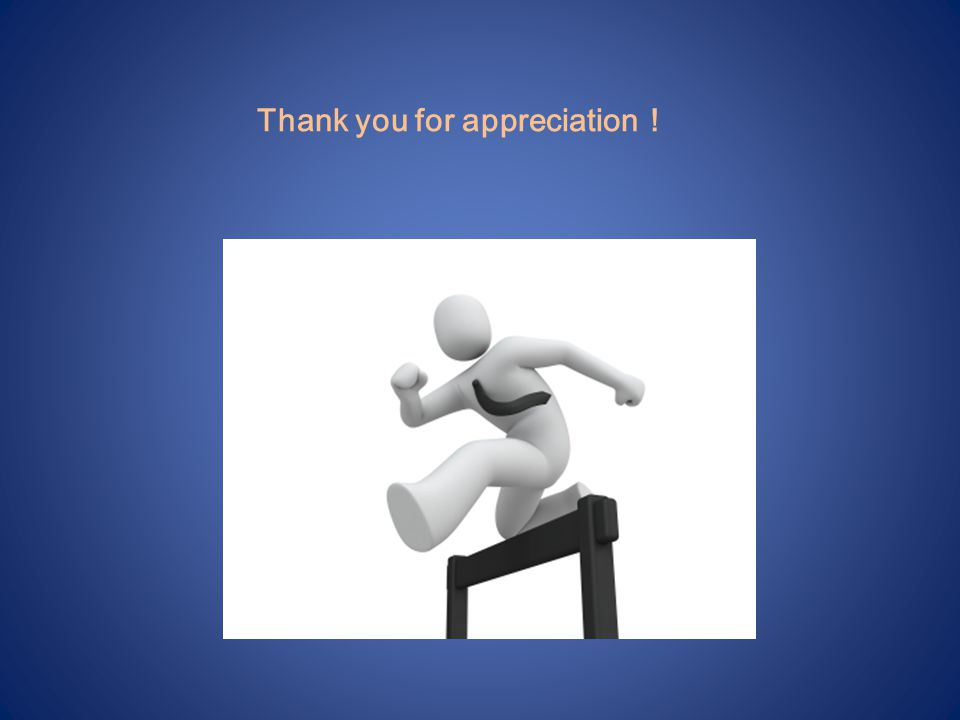Thank you for appreciation !