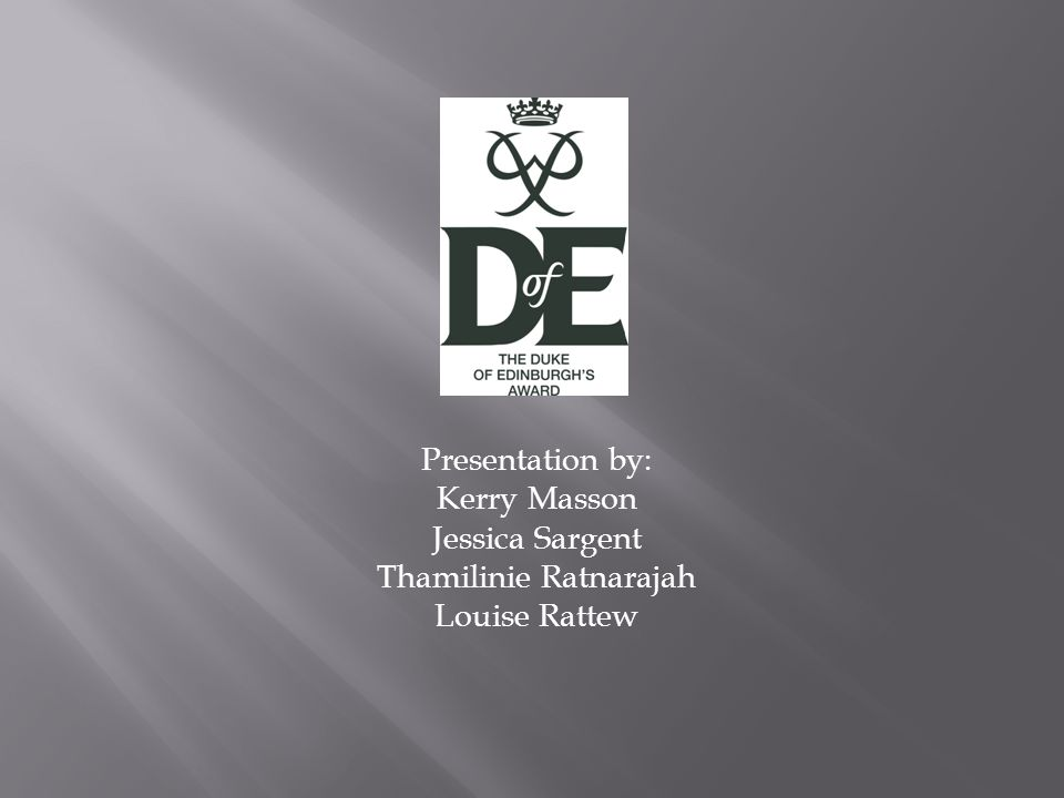 Presentation by: Kerry Masson Jessica Sargent Thamilinie Ratnarajah Louise Rattew