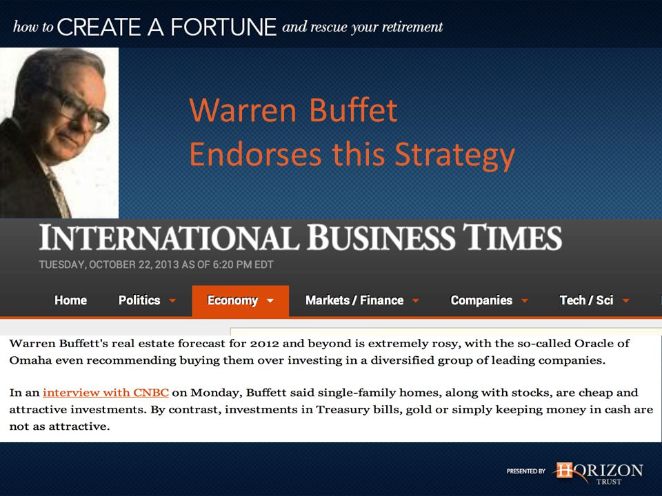 Warren Buffet Endorses this Strategy