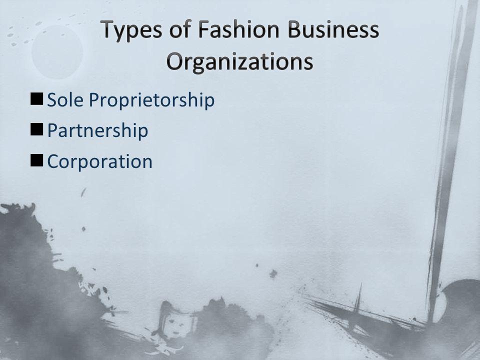 Sole Proprietorship Partnership Corporation