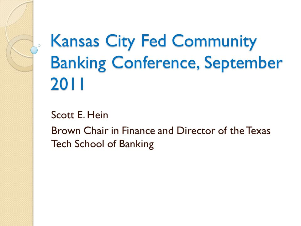 Community banks and the financial crisis Policymakers did much to improve the financial health of our large banks in this country.