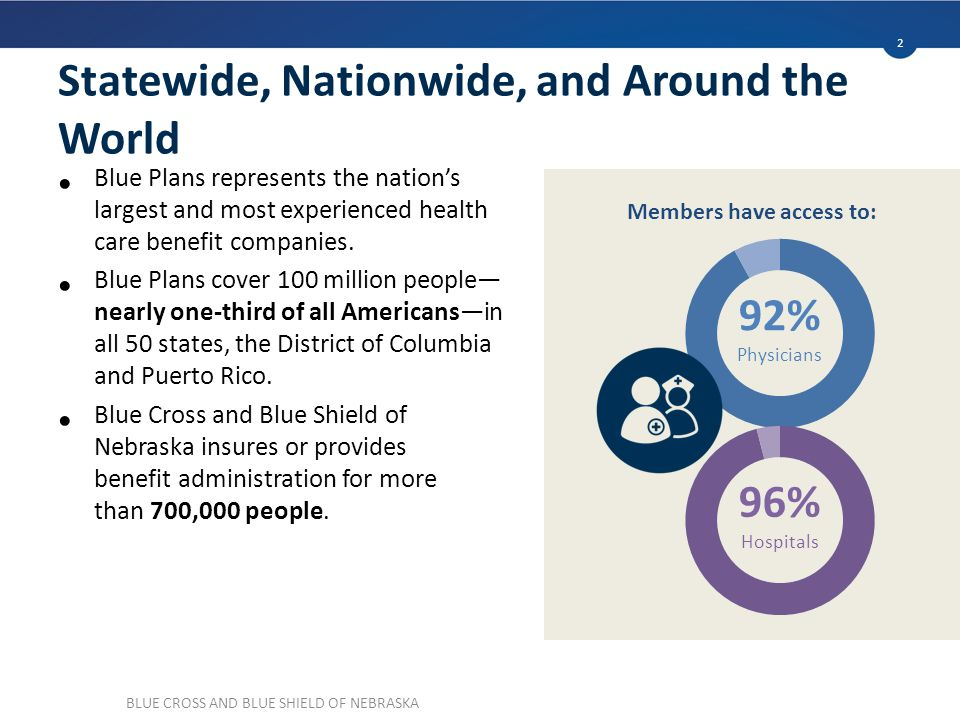 Statewide, Nationwide, and Around the World Blue Plans represents the nation's largest and most experienced health care benefit companies.