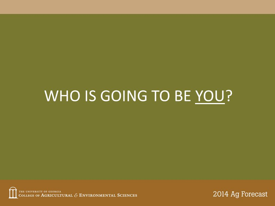 WHO IS GOING TO BE YOU?