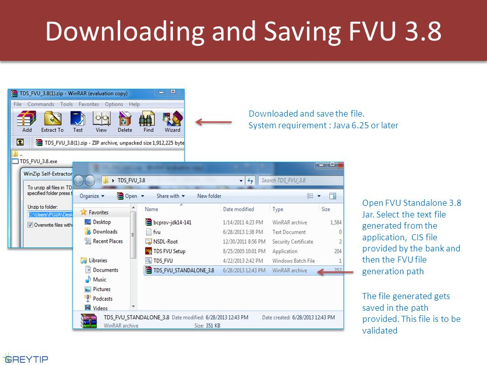 Downloading and Saving FVU 3.8 Downloaded and save the file.