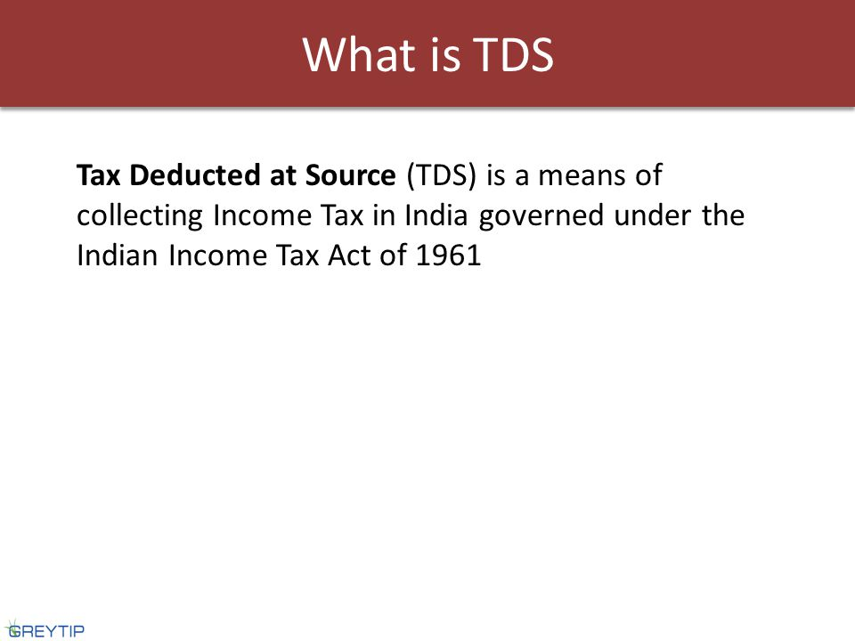 e-TDS return is a TDS return prepared in form No.24,26 or 27 in electronic media as per prescribed data structure The TDS Return prepared should be accompanied by a signed verification in Form No.27A What is e-TDS Return