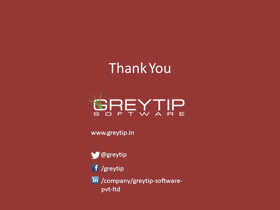 e-TDS with Greytip Thank You www.greytip.in @greytip /greytip /company/greytip-software- pvt-ltd