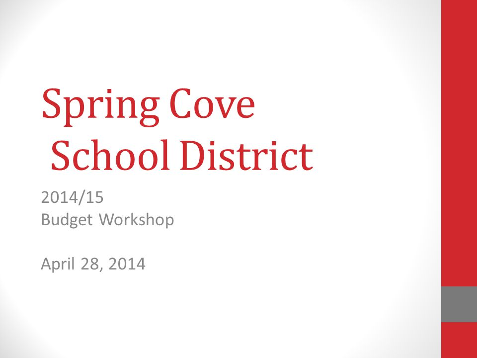 Spring Cove School District Agenda for the evening:  Review the Current Proposed Budget  Review of Act 1 Index/Exceptions  Comments/Discussions