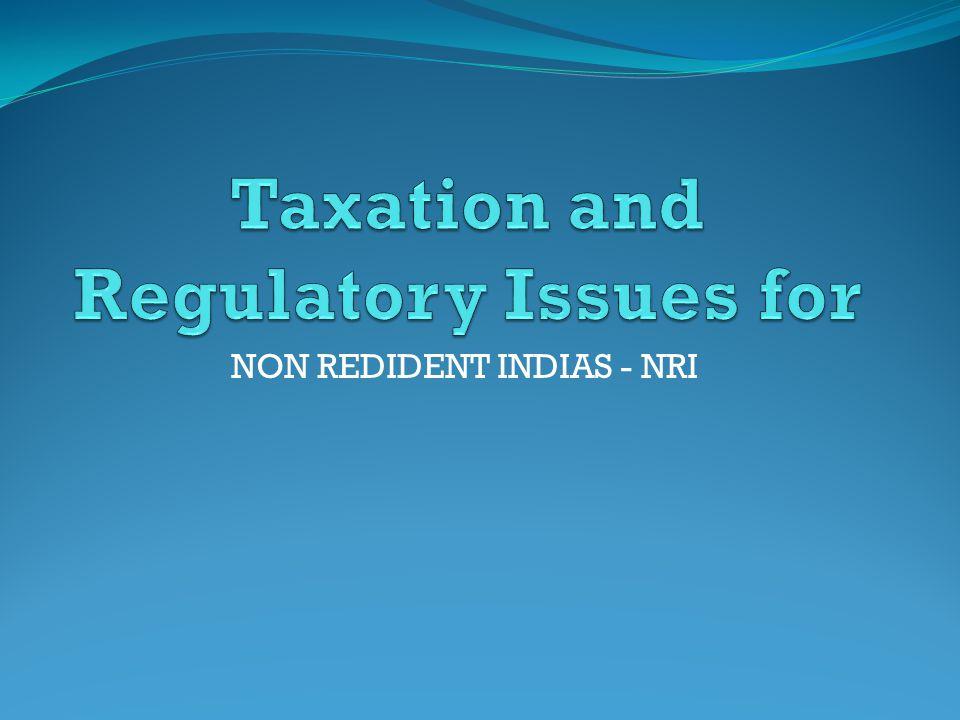 NON REDIDENT INDIAS - NRI