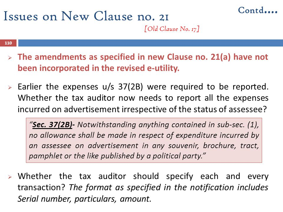 Issues on New Clause no. 21 [Old Clause No. 17]  The amendments as specified in new Clause no. 21(a) have not been incorporated in the revised e-util