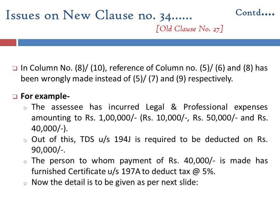  In Column No. (8)/ (10), reference of Column no. (5)/ (6) and (8) has been wrongly made instead of (5)/ (7) and (9) respectively.  For example- o T