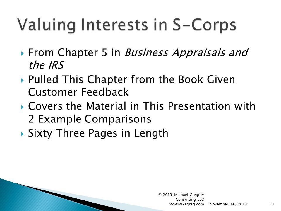  From Chapter 5 in Business Appraisals and the IRS  Pulled This Chapter from the Book Given Customer Feedback  Covers the Material in This Presenta