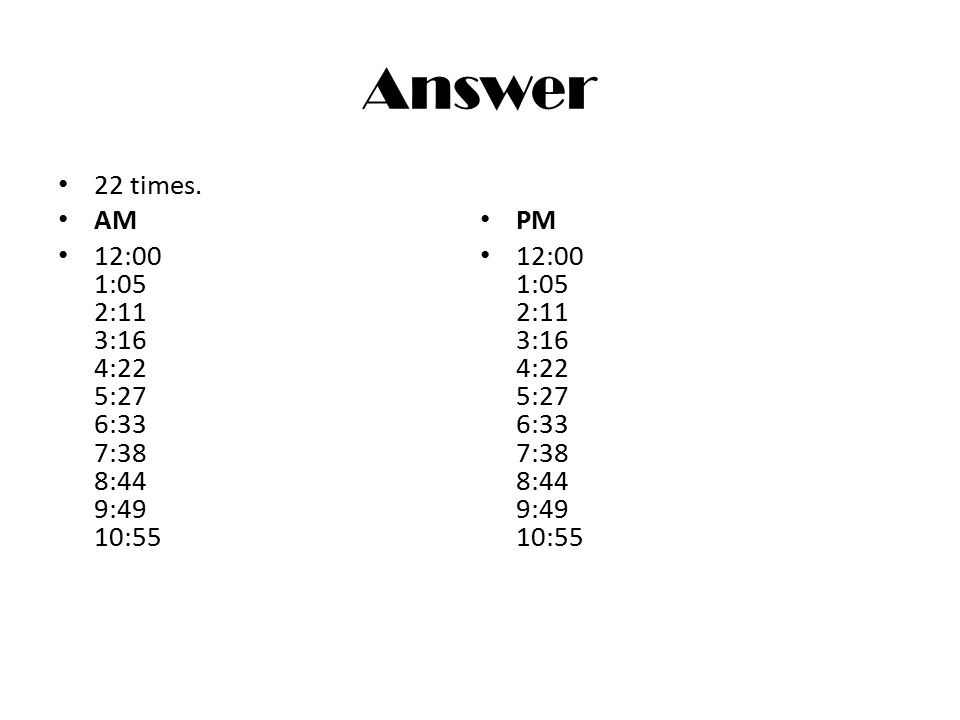 Answer 22 times.