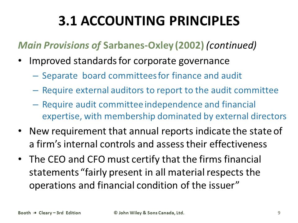 3.2 ORGANIZING A FIRM'S TRANSACTIONS Bookkeeping is the mechanical act of managing and recording transactions Accounting is the application of generally accepted accounting principles (GAAP) and conventions to bookkeeping data to produce financial statements that fairly represent the financial condition and operations of the economic entity Booth Cleary – 3rd Edition10© John Wiley & Sons Canada, Ltd.