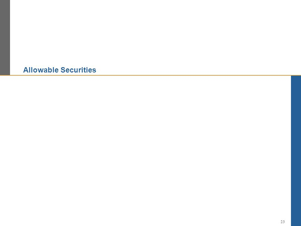 Allowable Securities 23