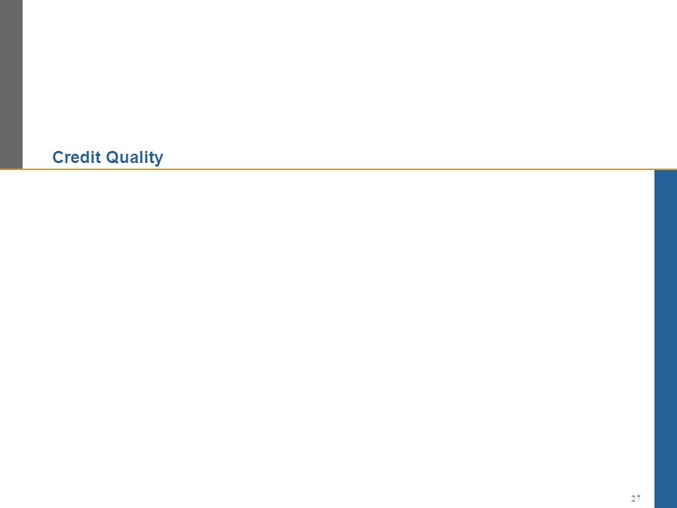 Credit Quality 27