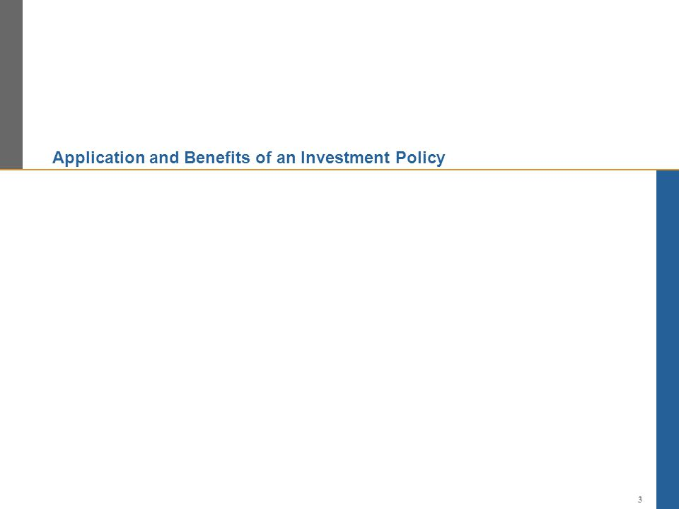 Application and Benefits of an Investment Policy 3