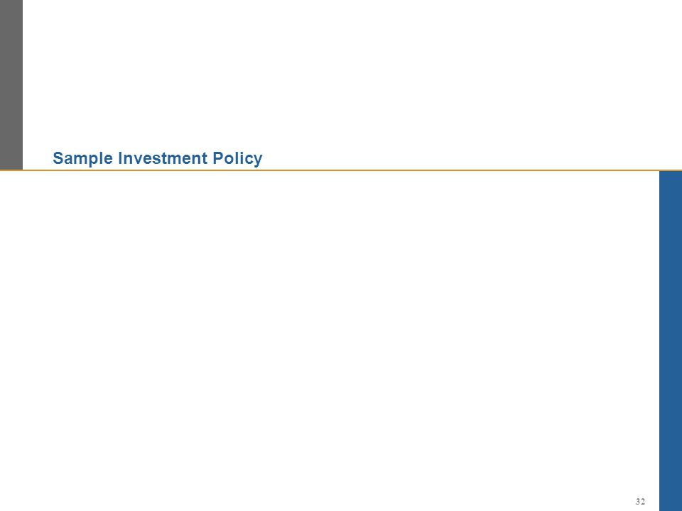 Sample Investment Policy 32