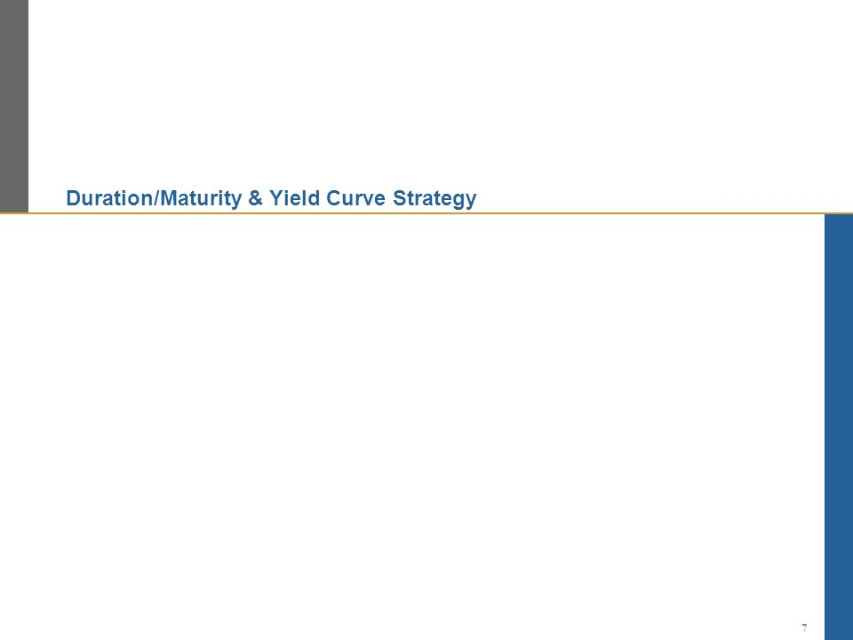 Duration/Maturity & Yield Curve Strategy 7