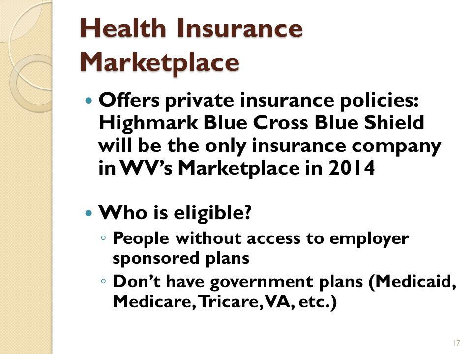 Health Insurance Marketplace 16