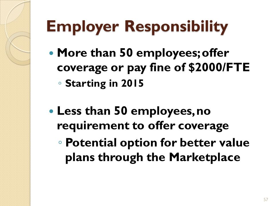 Employer Plans and ACA 56